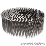 Coil nails 16° 2,8 x 80 mm ring, flat coil, bright