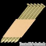 Paper strip nails 34° D-head 31 x 90 smooth yellow EG 12µ