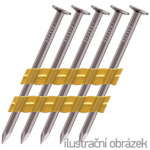 Plastic strip nails 21° 2,8 x 70 smooth, bright