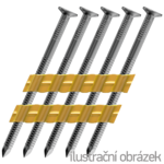 21° Plastic strip nails 21° 2,8 x 50 mm ring, bright