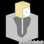 Anchor base to concrete type L 80x80x4,0
