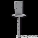 Anchor base to concrete type T 100x100x4,0
