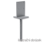 Anchor base to concrete type T 70x70x4,0