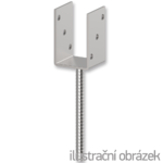 Anchor base to concrete type U 120x120x4,0