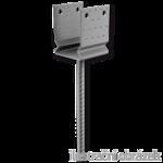 Pressed anchor base to concrete type U 120x120x4,0