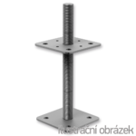 Pillar base 80x80x250x4,0 M24