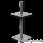 Pillar base loose nut 80x80x250x4,0 M24