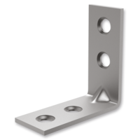 Reinforced angle bracket 90° type 4 for furniture