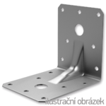 Reinforced angle bracket  90° Type 4 90x105x105x3,0