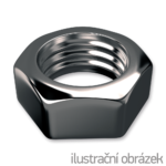 Hexagon nut DIN 934 M6, stainless steel A2