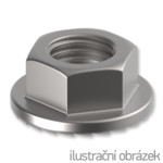 Hexagon flange nut with serration DIN 6923 M5, cl.8, galvanized