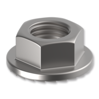Hexagon nut with flange DIN 6923