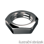 Hexagon thin nut DIN439 B M12, cl.4, galvanized