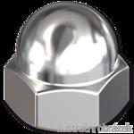 Hexagon domed cap nut DIN1587 M6, cl.6, galvanized