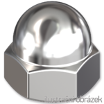 Hexagon domed cap nut DIN1587 M14, cl.6, galvanized