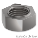 Hexagon weld nuts DIN 922, M6, bright