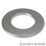 washer M4,DIN 125,white zinc plated