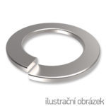 Spring lock washers DIN 127B, M18, galvanized