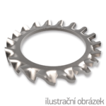 Serrated lock washer, external teeth M4, DIN 6798A,white zinc pl.