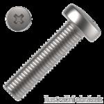 Pan head cross recessed screws DIN 7985  4.8, M4x10mm, galvanized