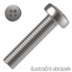 Pan head cross recessed screws DIN 7985  4.8, M4x6mm, galvanized