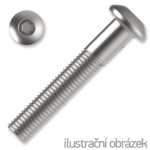 hexagon socket button head screw M10x45, ISO 7380, white zinc pl.