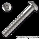 hexagon socket button head screw M6x8, ISO 7380, 10.9, white zinc pl.