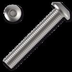 hexagon socket button head screw M6x40, ISO 7380, 10.9, white zinc pl.
