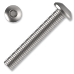 hexagon socket button head screw M6x8, ISO 7380, 10.9, white zinc pl.