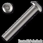 hexagon socket button head screw M4x6, ISO 7380, 10.9, white zinc pl.