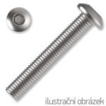 hexagon socket button head screw M4x8, ISO 7380, white zinc pl.