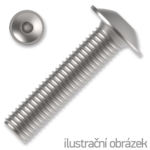 hexagon socket button head screw ISO 7380-2 cl. 10.9 M12x40mm, with flange, galvanized