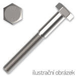 Hexagon head bolt DIN931 M6x55, cl.8.8, galvanized