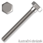 Hexagon head bolt DIN933 M5x14 mm, cl. 8.8, galvanized