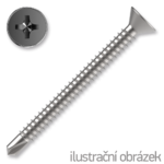 Self drilling screw, countersunk head, TEX 3,9x16mm DIN7504P