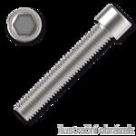 Hexagon socket head cap screw M4x25, white zinc plated, DIN 912