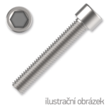 Hexagon socket head cap screw M8x35, white zinc plated, DIN 912