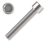 Hexagon socket head cap screw M4x30, white zinc plated, DIN 912