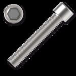 Hexagon socket head cap screw M12x55, white zinc plated, DIN 912