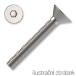 Hexagon socket countersunk head screw DIN7991 M8x20, cl.10.9, white galvanized