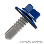 roofing screw 4.8x35,painted head with EPDM washer,RAL5010