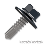 roofing screw 4.8x35,painted head with EPDM washer,RAL7016