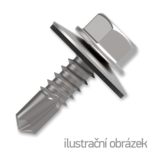 roofing screw 4.8x35,painted head with EPDM washer,RAL9006