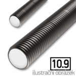 Threaded rod DIN976 M6x1000, cl.10.9, bright