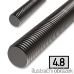 Threaded rod DIN975 M8x1000, cl.4.8, plain