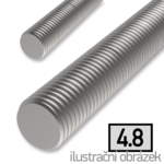Threaded rod DIN975 M6x1000, cl.4.8, galvanized