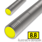 Threaded rod DIN976 M8x1000, cl.8.8, galvanized