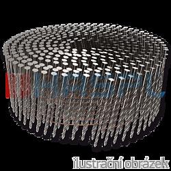 Coil nails 16° 2,5 x 75 mm screw, flat coil, bright