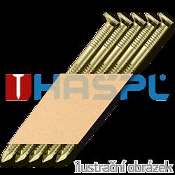 Paper strip nails 34° D-head 28 x 50 ring yellow EG12µ (3,0 Mille/carton)