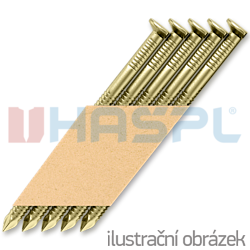 Paper strip nails 34° D-head 31 x 80 ring EG 12µ